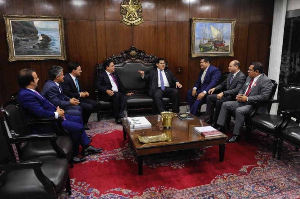 Presidente da OAB/AP e Presidente Nacional da OAB, visitam o Presidente do Senado, Davi Alcolumbre