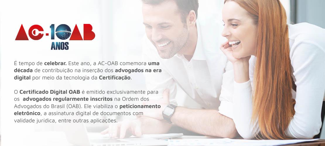 Certificação Digital do Advogado, concedido em parceria com a certisign e Conselho Federal da OAB.