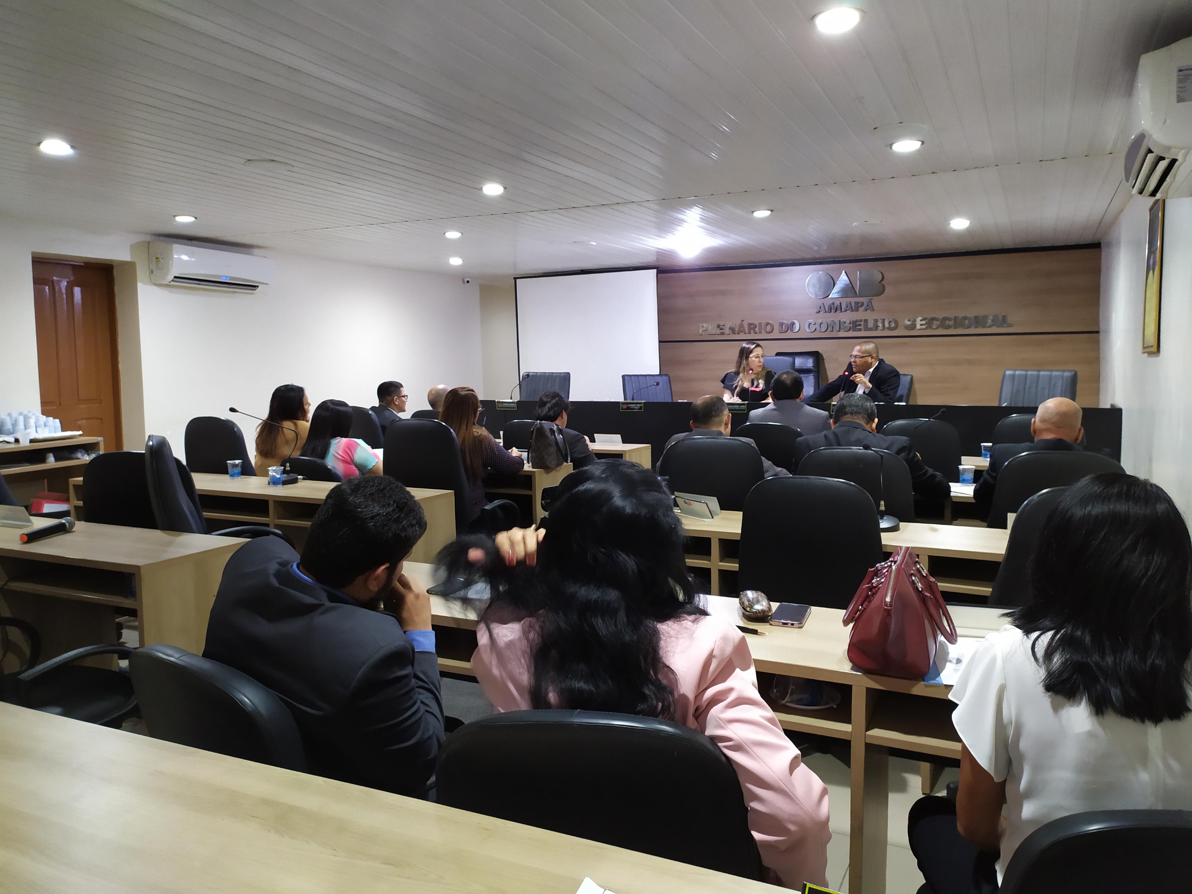Conselho da OAB/AP se reúne em Sessão Ordinária.
