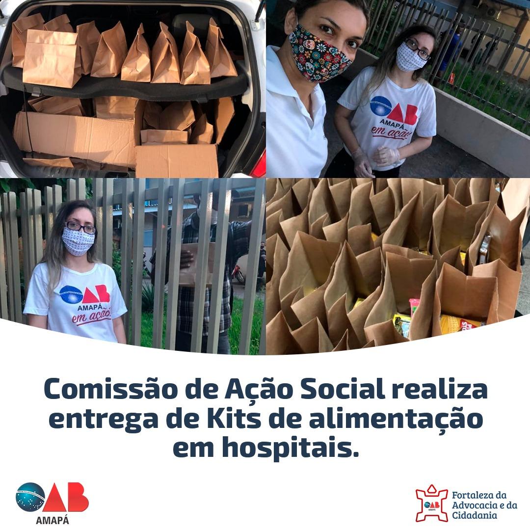 Comissão de Ação Social realiza entrega de Kits de alimentação em hospitais