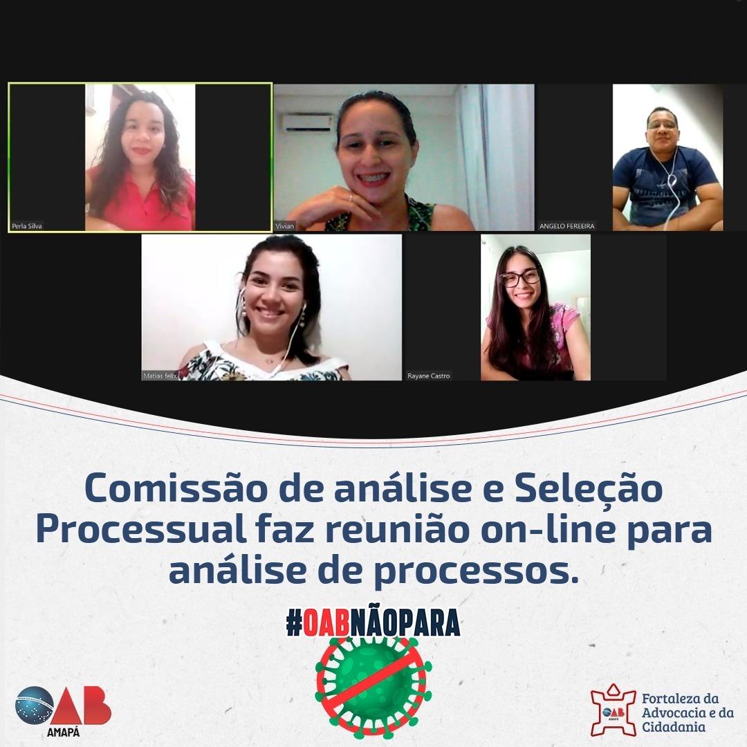 Comissão de Analises e Seleção Processual realiza reunião on-line para análise de processos