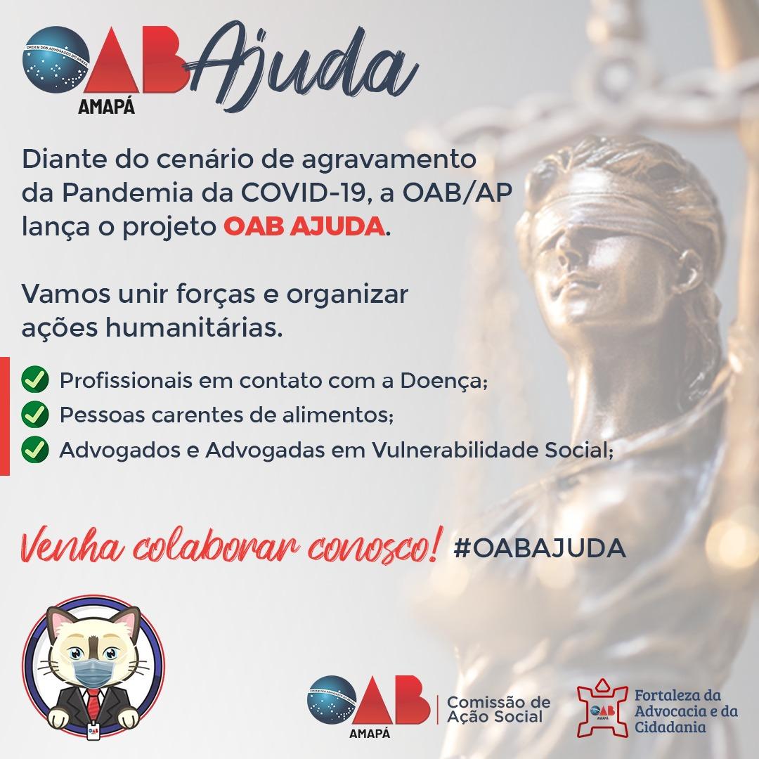 OAB/AP cria grupo OAB Ajuda para auxiliar na causa contra o COVID-19