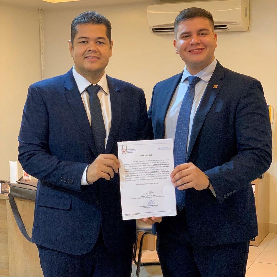 Presidente Auriney Brito empossa novo presidente da OAB Jovem