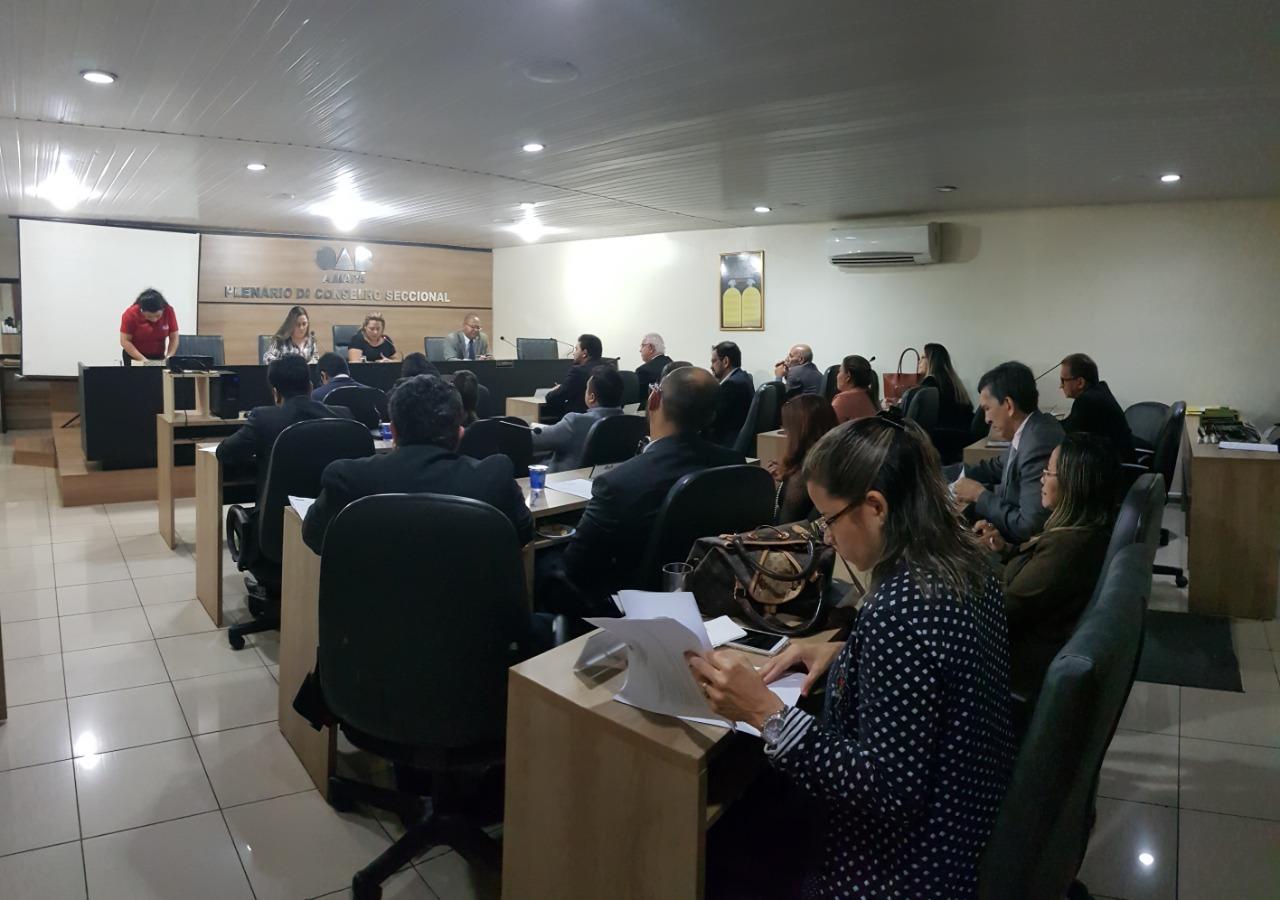 Conselheiros Seccionais e diretoria da OAB Amapá se reúnem para a 26ª Sessão Ordinária